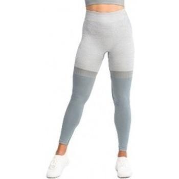 Textil Ženy Legíny Gymhero Leggins Stripes šedá