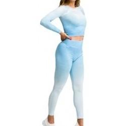 Textil Ženy Teplákové soupravy Gymhero Ombre Rushguard Longsleeve modrá
