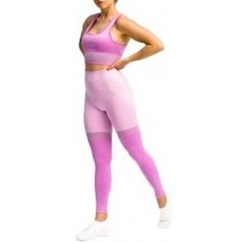 Textil Ženy Legíny Gymhero Leggins Stripes fialová