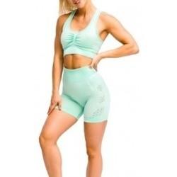 Textil Ženy Kraťasy / Bermudy Gymhero California Cute Shorts zelená