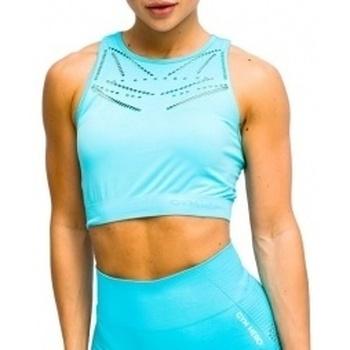 Textil Ženy Sportovní podprsenky Gymhero Venice Beach Top Short Bra modrá