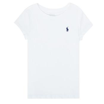 Textil Dívčí Trička s krátkým rukávem Polo Ralph Lauren ZALLIE Bílá
