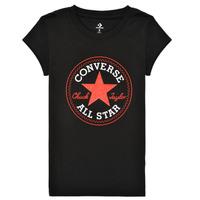 Textil Dívčí Trička s krátkým rukávem Converse TIMELESS CHUCK PATCH TEE Černá