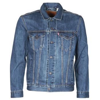 Textil Muži Riflové bundy Levi's THE TRUCKER JACKET Modrá