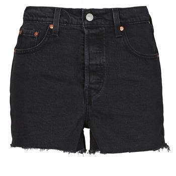 Textil Ženy Kraťasy / Bermudy Levi's RIBCAGE SHORT Černá