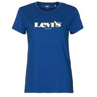 Textil Ženy Trička s krátkým rukávem Levi's THE PERFECT TEE Modrá