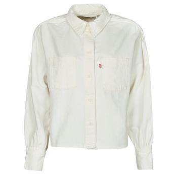 Textil Ženy Košile / Halenky Levi's ZOEY PLEAT UTILITY SHIRT Bílá