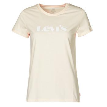 Textil Ženy Trička s krátkým rukávem Levi's THE PERFECT TEE Béžová