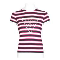 Textil Ženy Trička s krátkým rukávem Guess GERALDE TURTLE NECK Černá / Bílá