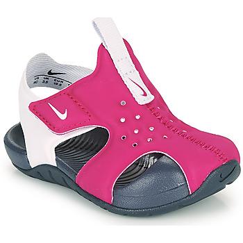 Boty Dívčí pantofle Nike SUNRAY PROTECT 2 TD Fialová