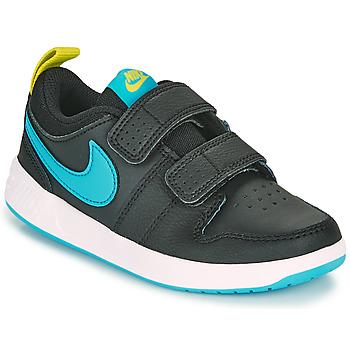Boty Chlapecké Nízké tenisky Nike PICO 5 PS Černá / Modrá