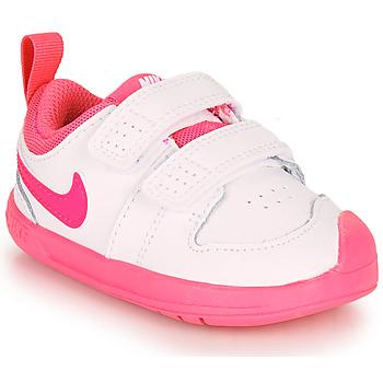 Boty Dívčí Nízké tenisky Nike PICO 5 TD Bílá / Růžová