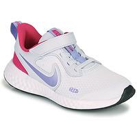 Boty Dívčí Multifunkční sportovní obuv Nike REVOLUTION 5 PS Modrá / Fialová