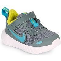 Boty Chlapecké Multifunkční sportovní obuv Nike REVOLUTION 5 TD Šedá / Modrá