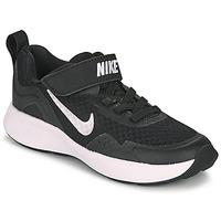 Boty Děti Multifunkční sportovní obuv Nike WEARALLDAY PS Černá / Bílá
