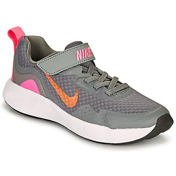 Boty Dívčí Multifunkční sportovní obuv Nike WEARALLDAY PS Šedá / Růžová