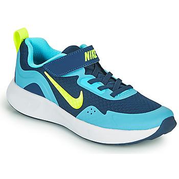 Boty Chlapecké Multifunkční sportovní obuv Nike WEARALLDAY PS Modrá / Zelená