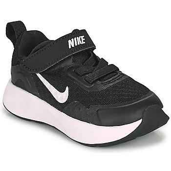 Boty Děti Multifunkční sportovní obuv Nike WEARALLDAY TD Černá / Bílá