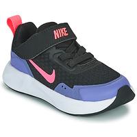 Boty Dívčí Multifunkční sportovní obuv Nike WEARALLDAY TD Černá / Modrá