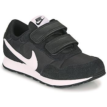 Boty Děti Nízké tenisky Nike MD VALIANT PS Černá / Bílá
