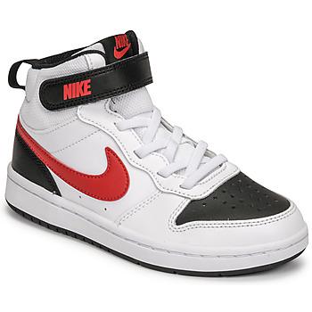 Boty Chlapecké Nízké tenisky Nike NIKE COURT BOROUGH MID 2 Bílá / Červená / Černá