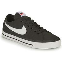 Boty Muži Nízké tenisky Nike NIKE COURT LEGACY CANVAS Černá / Bílá