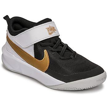 Boty Děti Multifunkční sportovní obuv Nike NIKE TEAM HUSTLE D 10 Bílá / Černá / Zlatá