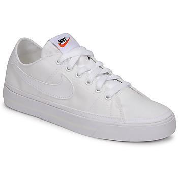 Boty Ženy Nízké tenisky Nike NIKE COURT LEGACY CANVAS Bílá