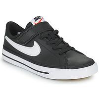 Boty Děti Nízké tenisky Nike NIKE COURT LEGACY Černá / Bílá