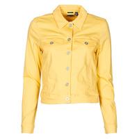 Textil Ženy Riflové bundy Vero Moda VMHOTSOYA Žlutá