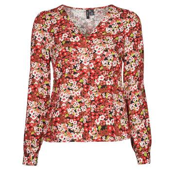 Textil Ženy Košile / Halenky Vero Moda VMSIMPLY EASY Červená