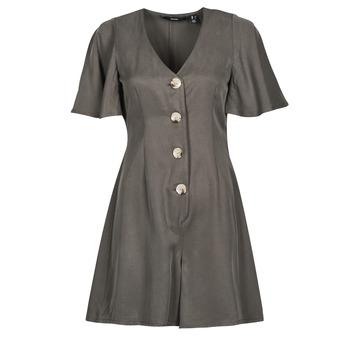 Textil Ženy Overaly / Kalhoty s laclem Vero Moda VMVIVIANA Khaki