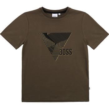 Textil Chlapecké Trička s krátkým rukávem BOSS SIMEO Khaki