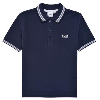Textil Chlapecké Polo s krátkými rukávy BOSS TONNELA Tmavě modrá