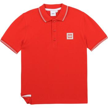 Textil Chlapecké Polo s krátkými rukávy BOSS BARBORA Červená