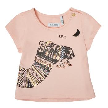 Textil Dívčí Trička s krátkým rukávem Ikks XS10100-32 Růžová