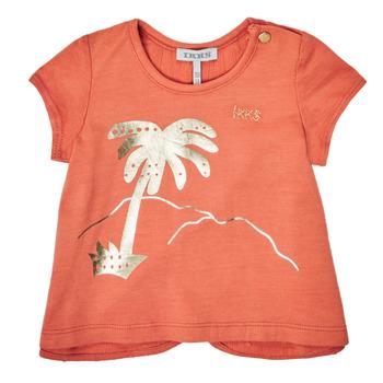 Textil Dívčí Trička s krátkým rukávem Ikks XS10080-67 Oranžová