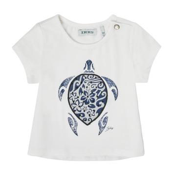 Textil Dívčí Trička s krátkým rukávem Ikks XS10070-19 Bílá