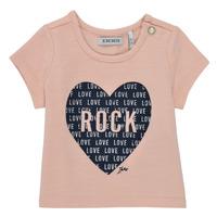 Textil Dívčí Trička s krátkým rukávem Ikks XS10120-31 Růžová
