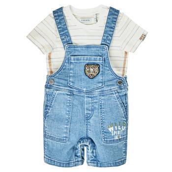 Textil Chlapecké Overaly / Kalhoty s laclem Ikks XS37011-84 Modrá