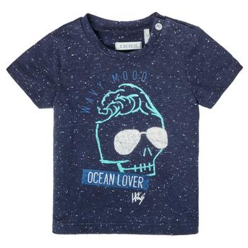 Textil Chlapecké Trička s krátkým rukávem Ikks XS10011-48 Tmavě modrá