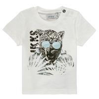Textil Chlapecké Trička s krátkým rukávem Ikks XS10161-19 Bílá