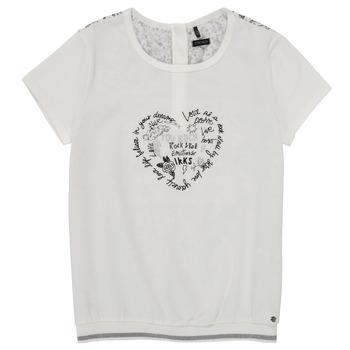 Textil Dívčí Trička s krátkým rukávem Ikks XS10242-19-C Bílá