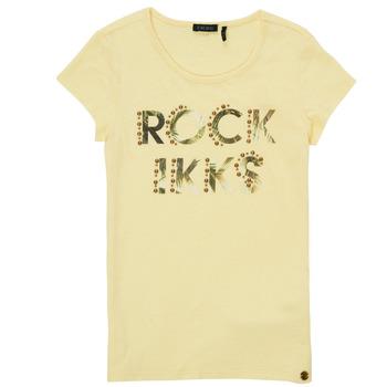 Textil Dívčí Trička s krátkým rukávem Ikks XS10182-73-J Žlutá