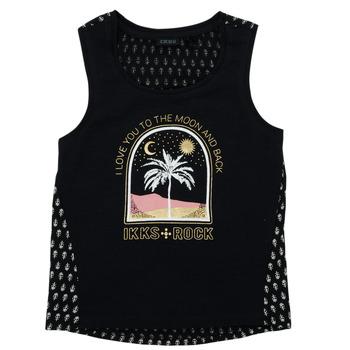 Textil Dívčí Trička s krátkým rukávem Ikks XS10012-02-J Černá