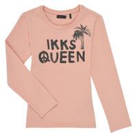 Textil Dívčí Trička s dlouhými rukávy Ikks XS10092-32-C Růžová