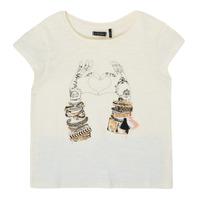 Textil Dívčí Trička s krátkým rukávem Ikks XS10002-11-C Bílá