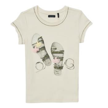 Textil Dívčí Trička s krátkým rukávem Ikks XS10132-11-C Bílá