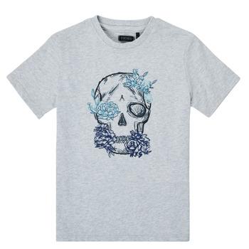 Textil Chlapecké Trička s krátkým rukávem Ikks XS10243-21-C Šedá
