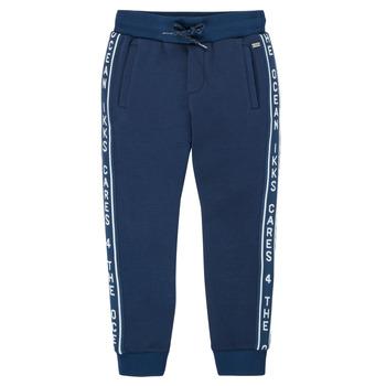 Textil Chlapecké Teplákové kalhoty Ikks XS23003-48-C Tmavě modrá